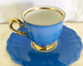 Royal Blue Numbered Espresso Cups