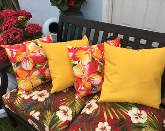 outdoor throw pillow cover passion flowers prints set of 4 reversible moisture