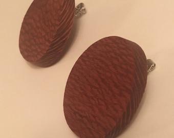 Leopard Wood Earrings