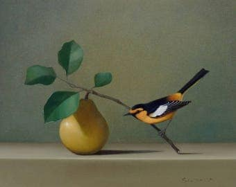 Pear and Oriole~ Limited Edition Print
