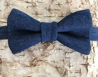 denim bow tie, bow tie for boys, bow tie for kids, kids bow ties, boys bow ties, navy bow tie, toddler bow tie, bow tie, bowtie, bow ties