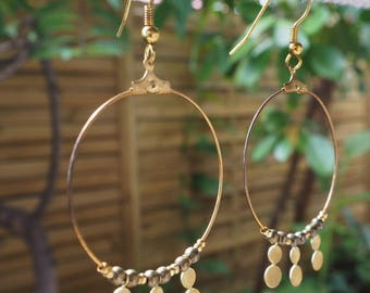 Hoop earrings gold plated gold