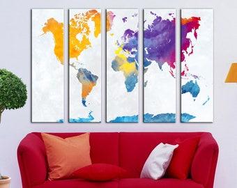 World map canvas Travel World map Canvas wall art Canvas Wall Art Canvas Print Wall decor Art Home decor world map canvas Travel world map