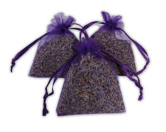Lavender Sachet Bags Set, 25PCS Aromatic Wedding And Baby Shower Favors Potpourri Dried Purple Fragrance Lavender Bud Sachets - LS001-2