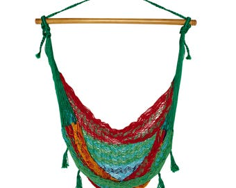 Valerie.co - Hand Weaved Mexican Swing Chair Hammock - Multi