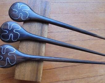 1 Prong Wooden Hair Sticks, Hair Pin, Hair Fork, Hair Accessories HS09