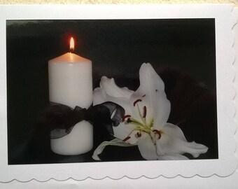 Photographic greetings bereavement card