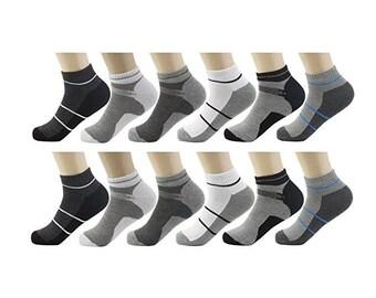 12 Pairs Low Cut Athletic Socks
