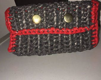 The Penny- Small Pouch Style- Plarn Bag- Crochet Bag-Recycled Plastic bags