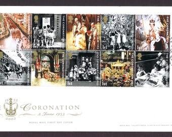 Coronation Anniversary of Queen Elizabeth II 60 Years FDC.