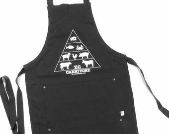 Zero Carb Food Pyramid Apron Black