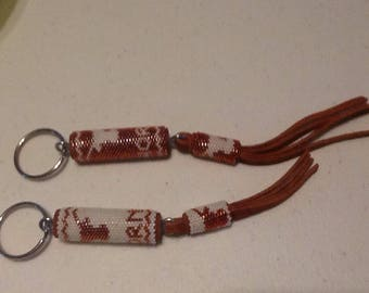 Authentic Native American (Choctaw) beaded keychain