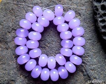 Lina Khan - Lampwork ~ CROCUS [34Mini] Handmade Spacer Glass Beads SRA