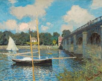 Claude Monet the bridge at Argenteuil canvas print.