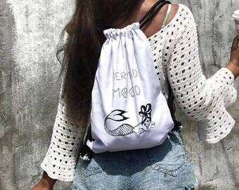White Mermaid Gym Bag