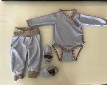 NEW set Gr. 44-98 bloomers body shoes pants rompers shoes set