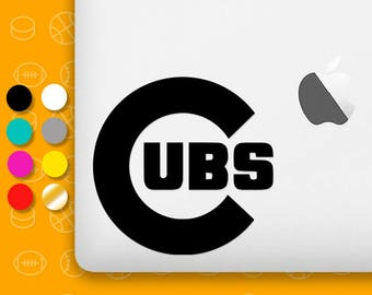 cubs decal, chicago cubs decal, chicago cubs vinyl, chicago cubs sticker, chicago,  cubs, chicago cubs, chicago cubs logo, cubs sticker