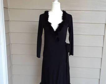 80s Vintage Norma Kamali Wrap Dress