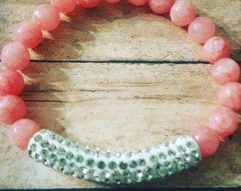 Pink with Diamond tube bar