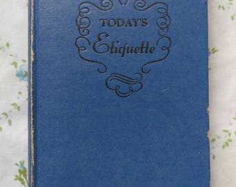 1941 Today's Etiquette book