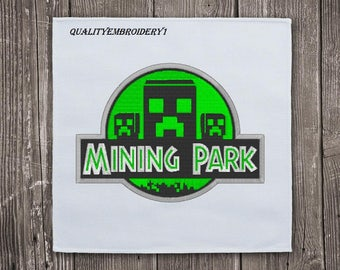 Mining Park Minecraft Embroidery Design