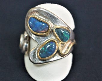 Abstract Opal Ring