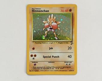 Hitmonchan Holo Pokemon Trading Card