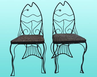 Pair of John Risley Style Chairs - Vintage Wired Chairs