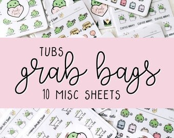 Tubs Sticker Grab Bag (10 Misc Sticker Sheets)