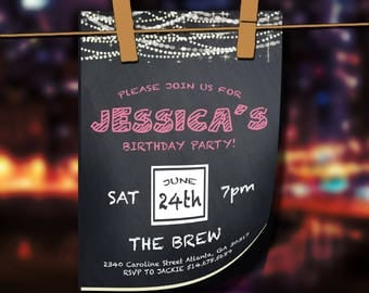 Birthday Party Invitation   Printable Template   Customizable Invitation