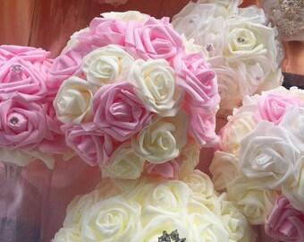 Sparkle wedding centerpieces and bouquets