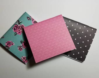 Flower and pattern mini notebooks