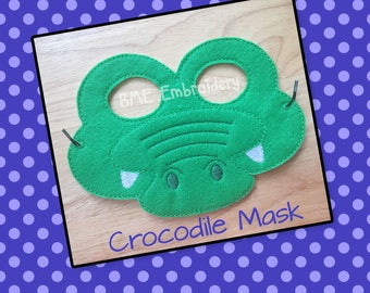 Crocodile Mask- Halloween Costume-Dress Up Imaginary Play-Creative Play-Birthday Party Favor-Theme Party-