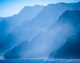 Beautiful Blue Island Print - Digital Download
