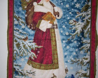 Father Christmas Panel With Cooridnating Fabric