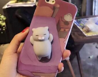 Squishy Sleeping Cat Phone Case / iPhone 7