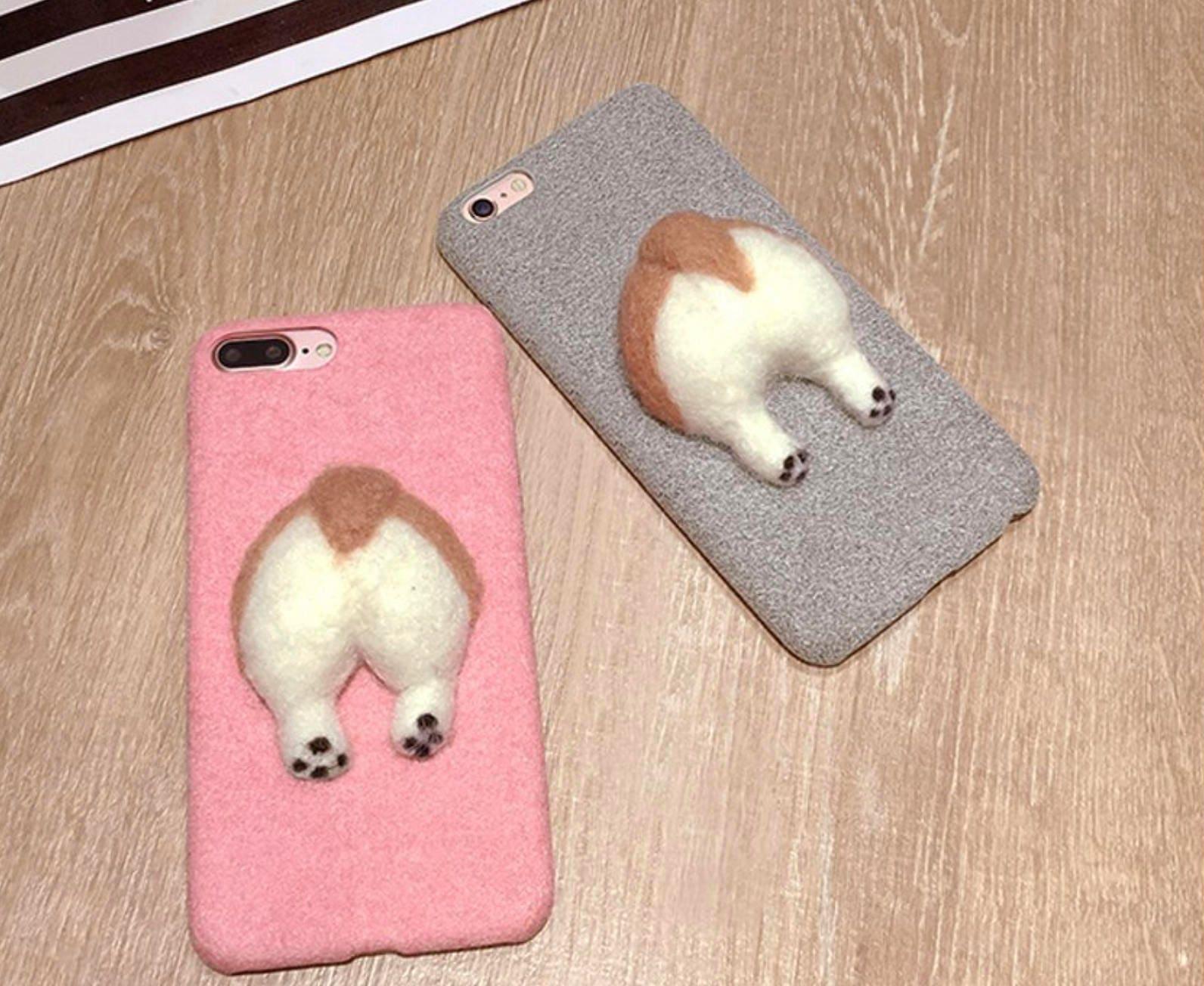 cute corgi butt phone case iphone 6  6s pink