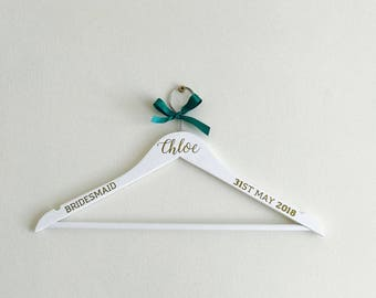 Personalised Wedding Hanger, Wedding Dress Hanger, Bridal Hanger, Bridesmaid Gift, Wedding Gift, Personalised Hanger, Bride Hanger