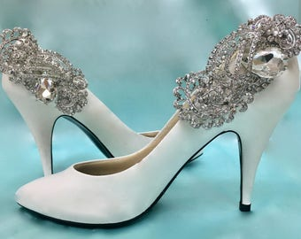 Wedding Shoe Clips, Bridal Bling Shoes, Wedding Rhinestone Shoes, Wedding  Crystal Shoes, Wedding Bling Shoes, Rhinestone Bling Shoes