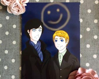 Sherlock A6 Postcard