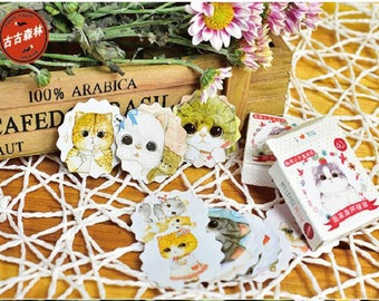 40 PCs, Cute Cat Stickers, Adorable Kitten, Scrapbooking Stickers, Decoration, Journal, Diary, Planner Sticker Flakes