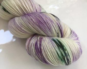 Hand Dyed Yarn - One of a Kind - 100% superwash merino wool - fingering weight / sock yarn - Moor