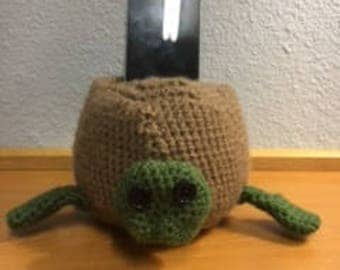 Crochet Turtle Smart Phone Holder