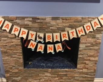 Birthday Banner - Woodland Creatures Party