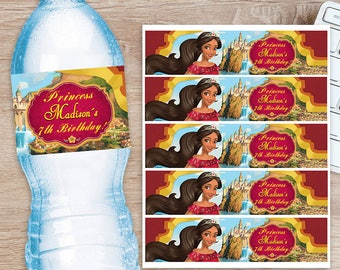 ON SALE 30% Elena of Avalor Water Bottle Label