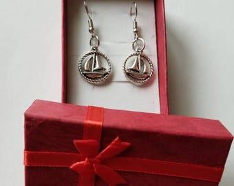 Boat earrings, Boat lover earrings.