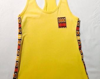 Women's Kebu African Tank, Yellow