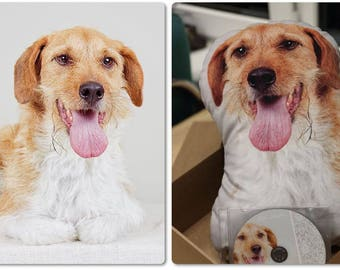 Pet Gift Custom dog plush pillow, Personalized stuffed dog, Pet photo pillow, Dog photo pillow, Animal toy, Personalize dog toy