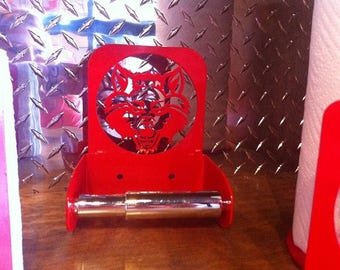 Red Wolf Toilet Paper Holder