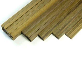 Walnut Strip Wood Bundles of 10 - Craft and Model Making Supplies
